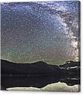 Milky Way Panorama At Cameron Lake Canvas Print