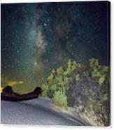 Milky Way White Sands Canvas Print