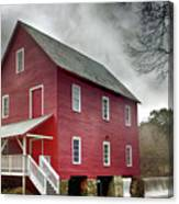 Mill At Whitewater Cree Canvas Print