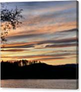 Mill Creek Lake Sun Set Canvas Print