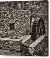 Mill Creek Water Wheel Canvas Print