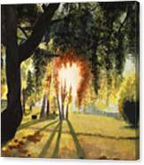 Mill Lake At Sunset Canvas Print