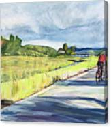 Mill Valley Bike Path Canvas Print