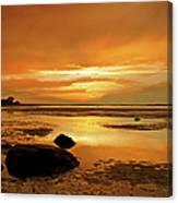 Mill Way Beach Sunset Canvas Print