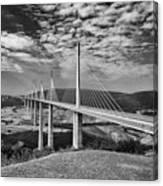 Millau Bridge France Canvas Print