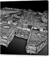 Millennium Falcon Attack Canvas Print