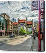 Millennium Gate In Vancouver Chinatown, Canada Canvas Print