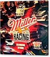 Miller Racing Sign 25th Year Canvas Print