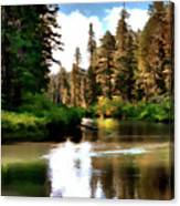 Millers Creek Painterly Canvas Print