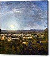 Millet: Sheep By Moonlight Canvas Print