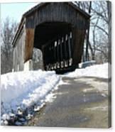 Millrace Park Old Covered Bridge - Columbus Indiana Canvas Print