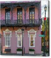 Mills House Pink Coral In Charleston Sc Canvas Print