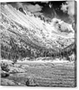 Mills Lake Monochrome Canvas Print