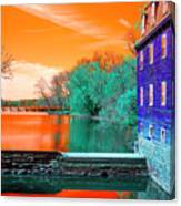 Millstone River Pop Art Canvas Print