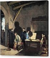 Milton Visiting Galileo Canvas Print