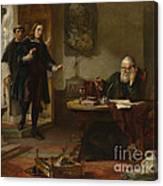 Milton Visiting Imprisoned Galileo Canvas Print