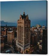 Milwaukee Aerial. Canvas Print