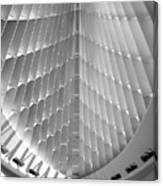 Milwaukee Art Museum Interior B-w Canvas Print
