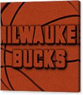 Milwaukee Bucks Leather Art Canvas Print
