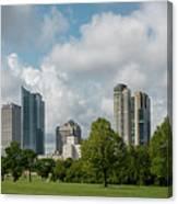Milwaukee Skyline From Veterans Park 1 Canvas Print