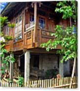 Minahasa Traditional Home 2 Canvas Print