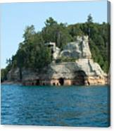Miner's Castle On The Water Canvas Print