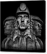 Miners In The Dark Canvas Print