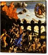 Minerva Chasing The Vices From The Garden Of Virtue 1502 Canvas Print