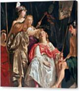 Minerva Crowns The Maid Of Leiden Canvas Print