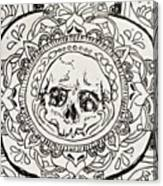 Skull Mandala Canvas Print