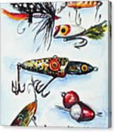 Mini Study- Fishing Lures Canvas Print