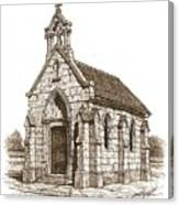 Miniature Church Of Froberville Canvas Print