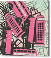 Miniature London Town Canvas Print