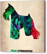 Miniature Schnauzer Poster 2 Canvas Print
