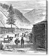 Mining Camp, 1860 Canvas Print