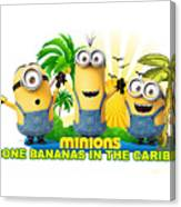 Minions In The Caribbean Canvas Print