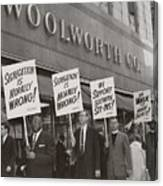Ministers Picket F.w. Woolworth Store Canvas Print
