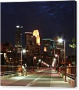 Minneapolis From The Stone Arch Bridge Canvas Print