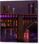 Minneapolis In Purple 4 - Wide Crop Canvas Print
