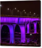 Minneapolis In Purple 6 Canvas Print