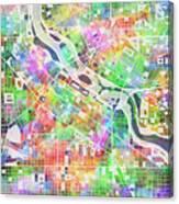 Minneapolis Map 2 Canvas Print