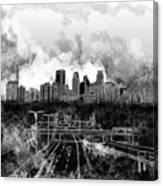 Minneapolis Skyline Abstract 2 Canvas Print