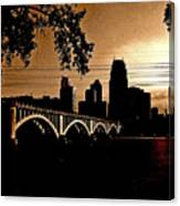 Minneapolis Skyline In Copper Canvas Print