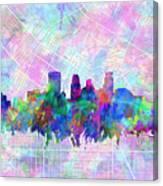 Minneapolis Skyline Watercolor Canvas Print