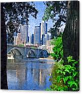 Minneapolis Through The Trees Canvas Print