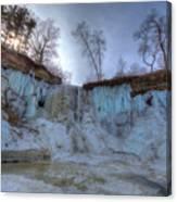 Minnehaha Falls Minneapolis Minnesota Winter Morning Canvas Print