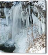 Minnehaha In Winter Canvas Print
