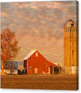 Minnesota Farm At Sunset Canvas Print