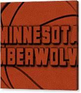 Minnesota Timberwolves Leather Art Canvas Print