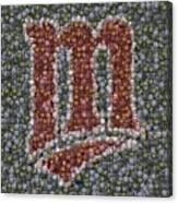 Minnesota Twins Baseball Mosaic Canvas Print